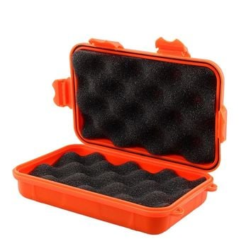 Outdoor Travel Plastic Shockproof Waterproof Box Storage Case Enclosure Airtight Survival Container EDC Camping Shockproof Box