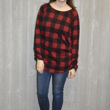 Road To You Plaid Top