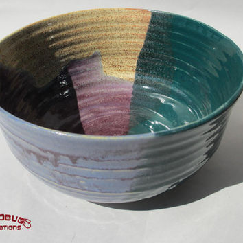 Fruit Bowl - Purple, Green, and Tan