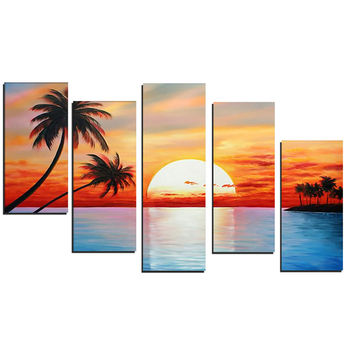 Nature's Paradise Landscape Canvas Wall Art Oil Painting