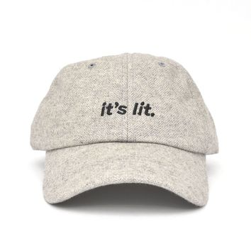 It's Lit Dad Hat in Heather Gray