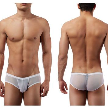 Male Power PAK885 Euro Male Mesh Micro Mini Pouch Short Color White
