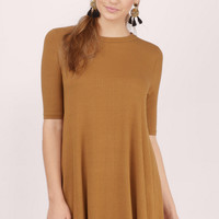 Cyndi Ribbed Shift Dress
