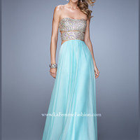 Strapless Beaded A-line La Femme Prom Dress 20904