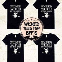 Wicked Witch BFF Friends Halloween T-Shirts