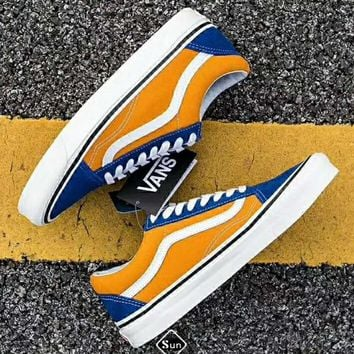 Vans Old Skool Style 36DX Anaheim Casual Sports Skate Shoes F-CSXY Yellow/blue