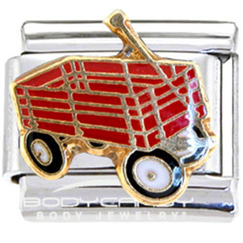 Little Red Wagon Italian Charm