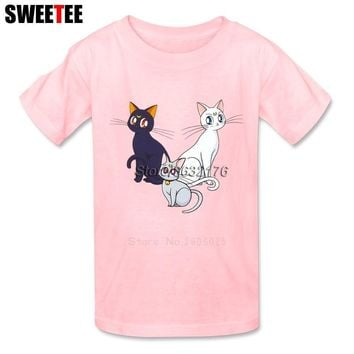 children's T Shirt Infant Pure Cotton Boy Girl 2018 T-shirt O Neck Kid Tshirt Toddler Sailor Moon  TopsKawaii Pokemon go  AT_89_9