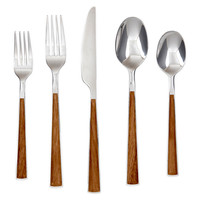 20-Pc Esben Beachwood Flatware Set, Flatware Place Settings