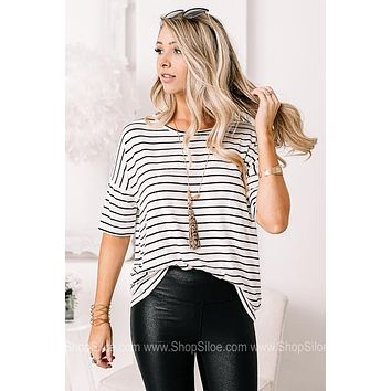 On Down The Line Striped Top