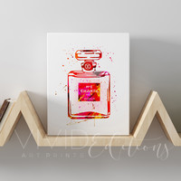 Chanel No. 5 Perfume Bottle Gallery Wrapped Canvas