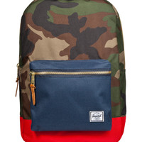 Herschel Supply Co. Woodland Camo/Navy/Red Settlement Backpack |  Hypebeast Store