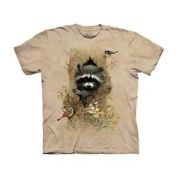 Raccoon Baby in Tree Kids T-Shirt