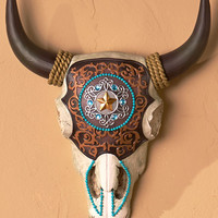 Southwestern Themed Wall Decor Clay Pots Skull Cross