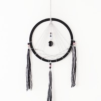 Grey and Black Dreamcatcher - Wall Decor - Earthbound Trading Co.