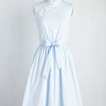 Biographical Book Club Dress in Sky | Mod Retro Vintage Dresses | ModCloth.com