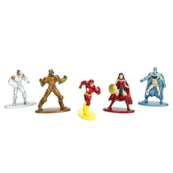 Jada Nano Figures DC Wave 1- 5 Pack A- Parademon Red Flash Batman Wonder Woman Cyborg
