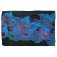 Electric Blue Flower Kitchen Towel