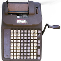 Vintage Adding Machine for Office or Home Decor; Industrial Furnishing