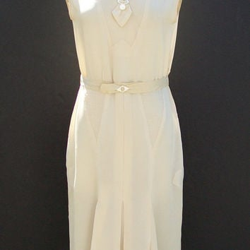 Vintage 1930s Sleeveless Summer Dress by landmvintage on Etsy