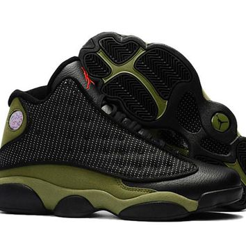 Nike Air Jordan 13 Men Sport Basketball Shoes Black Green