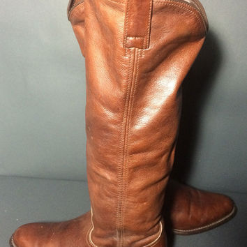 Frye 77070 Dorado Low Brown Leather Riding Motorcycle Women's Size 6.5