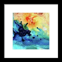Colorful Abstract Art - Blue Waters - Sharon Cummings Framed Print