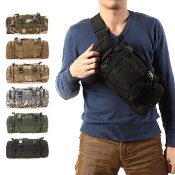 3L/6L Outdoor Military Tactical Waist Pack Waterproof Oxford Molle Camping Hiking Pouch Backpack Bag Waist Bags mochila militar