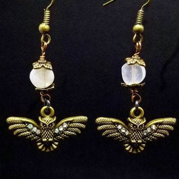 Moon Owls Dangles