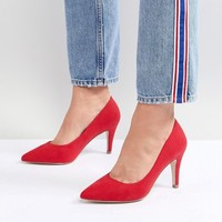New Look Wide Fit Kitten heel Pointed Court at asos.com