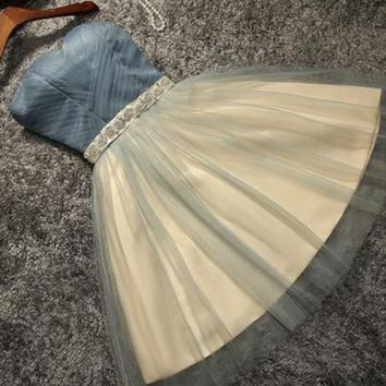 Cute Tulle Short Cute Homecoming Dress