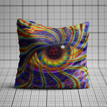 Geometric Wavey Eye Cushion Cover