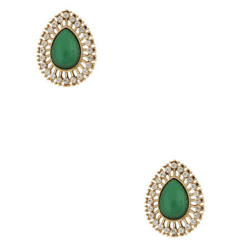 Stone Teardrop Studs | FOREVER21 - 1015035306