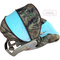 Camo withTiffany Blue Infant Car Seat Cover
