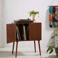Assembly Home Midcentury Vinyl Record Media Console- Brown One