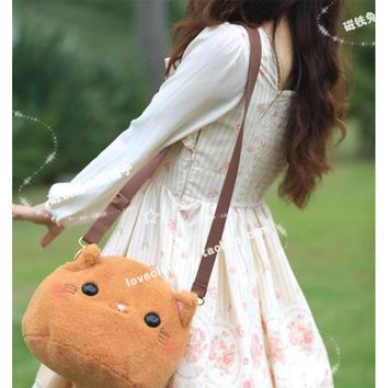 NEW Arrival Multipurpose Women Cute Handbag Lolita Plush Cat Women Messenger Bag Crossbody Bags