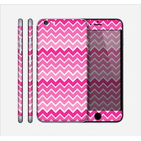The Pink & White Ombré Chevron V2 Pattern Skin for the Apple iPhone 6 Plus