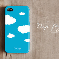 Apple iphone case for iphone iphone 5 iphone 4 iphone 4s iPhone 3Gs : Abstract blue sky with white cloud