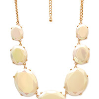 FOREVER 21 Charmed Bauble Necklace Cream/Gold One