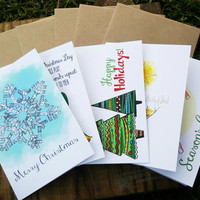 Christmas Card Pack, Christmas, Holiday, Cards