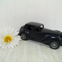 Vintage Black Rolls Royce Car Model Ideal Toy Co Kit Car - Mid Century Plastic Hand Crafted DIY Kit Figure - Cars of All Nations Collection