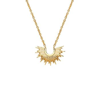 Half Sunburst Necklace - Gold Plated