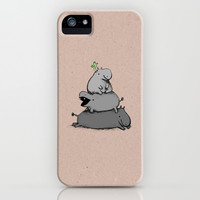 Hippo Totem iPhone & iPod Case by Sophie Corrigan