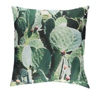 Cactus Print Decorative Pillow