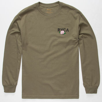 RVCA Stencil Rose Mens T-Shirt | L/S + Baseball Tees