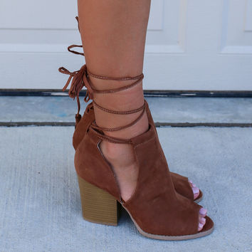 St. Augustine Palms Rust Lace Up Bootie