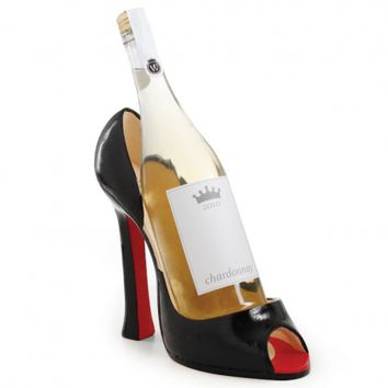 Diva Noir Shoe Wine Bottle Holder