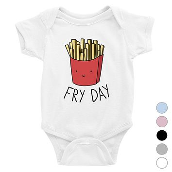 365 Printing Fry Day Funny Baby Bodysuit Gift Baby Shower Cute Infant Jumpsuit