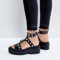 Monki Chunky Stud Detail Sandal at asos.com