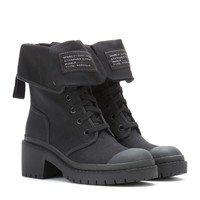 Canvas Army Boots